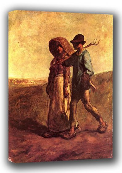 Millet, Jean-Francois: Going to Work.  Fine Art Canvas. Sizes: A3/A2/A1 (00713)
